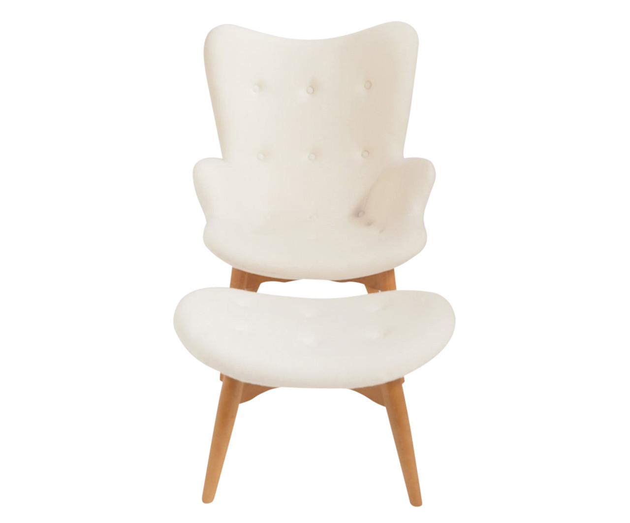 Magnificent Replica Grant Featherston Contour Chair Footstool White Soft Cashmere Machost Co Dining Chair Design Ideas Machostcouk