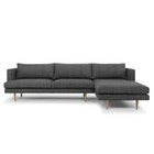 CLC768 3 Seater With Right Chaise - Metal Grey (cf)