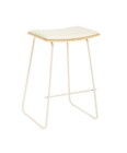 Replica Y Stool - White Powder-Coated Frame with Various Seat Options