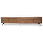 CTV106-BB 2.4m TV Entertainment  Unit - Walnut (cf)