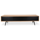 CTV839-DW TV Unit With Black Drawers - Natural (cf)
