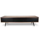 CTV884-DW TV Unit With Black Matte Drawers - Walnut (cf)
