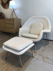 Premium Replica Womb Chair And Ottoman - Special Beige Velvet