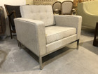 Replica Florence Knoll-1-seater in Premium Grey Tweed Fabric