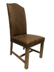 Caffe Dining Chairs - Premium Brown 100% Vintage Italian Leather with American Oak legs