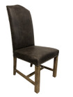 Caffe Dining Chairs - Premium 100% Grey Vintage Italian Leather with American Oak legs