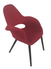 Replica Eames/Saarinen Organic Chair-Premium Red Soft Cashmere fabric with walnut legs