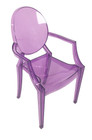 Replica Louis Ghost Chair - Transparent Purple