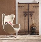 Industrial style of Replica Egg Chair-Premium Linen Fabric with Contrast stitching