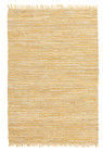 Bondi Leather and Jute Rug Yellow (ux)