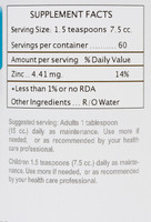 Servings per container vary according to bottle size.