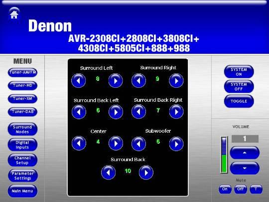 Denon Electronics AVR-2808CI (North America) - Crestron
