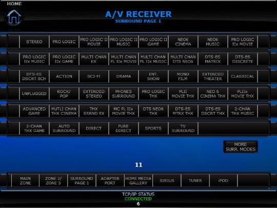 Pioneer VSX-1021 - Crestron Application Market