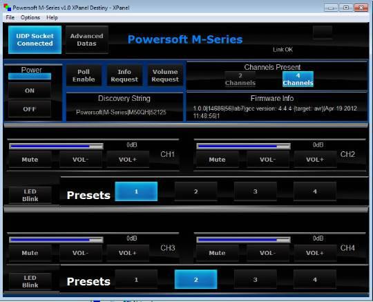 Powersoft M28Q HDSP+ETH - Crestron Application Market