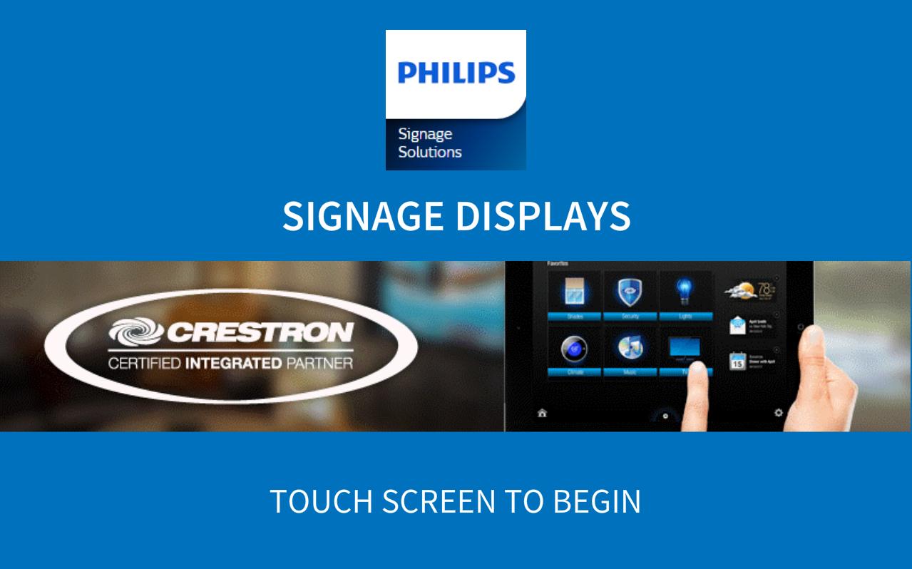 Philips Signage Displays v1 0 - Crestron Application Market