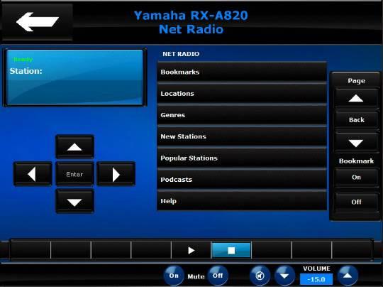 Yamaha RX-A820 - Crestron Application Market