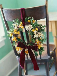 Decorated Chair Wreath