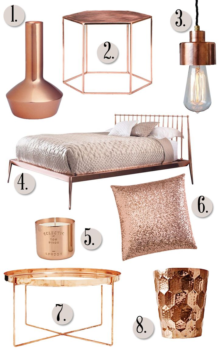 Rose gold furniture stools chairs for Room decor ideas rose gold