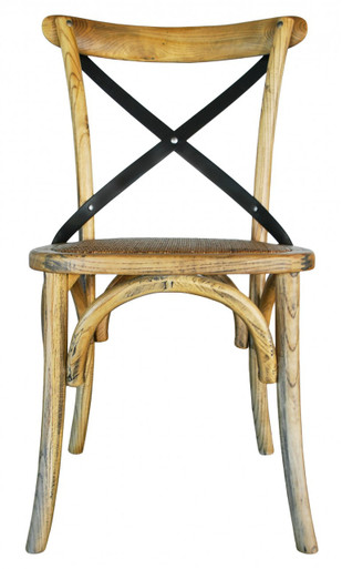 Awesome Metal Cross Back Chair