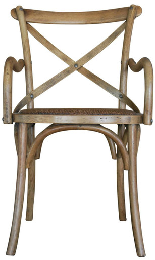 French Provincial Carver Crossback Chair