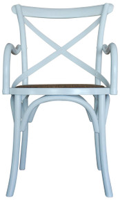 White French Provincial Carver Crossback Chair
