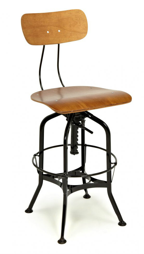 black sale industrial height stool replica adjustable turner