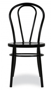 Black Metal Bentwood Chair
