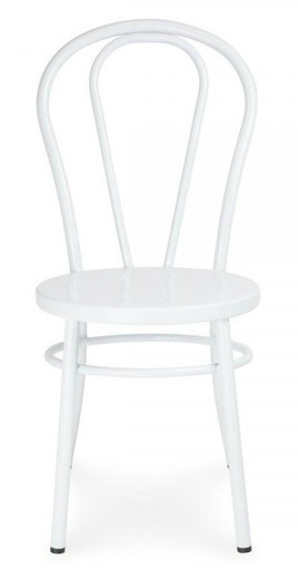 White Metal Bentwood Chair