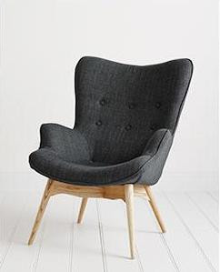 Peachy Grant Featherston Replica Lounge Chair Charcoal Machost Co Dining Chair Design Ideas Machostcouk
