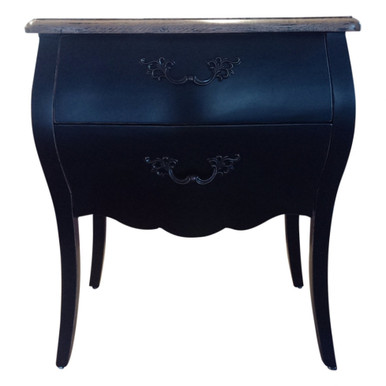 Black Provincial Bedside Table