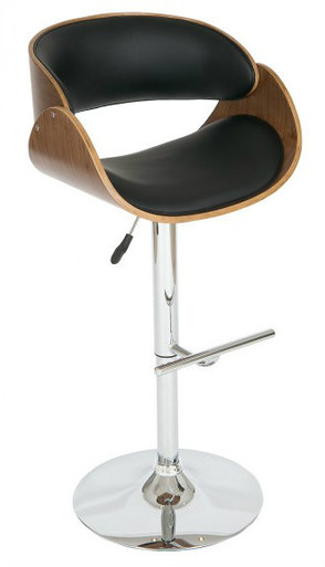 Shell Bar Stool Black