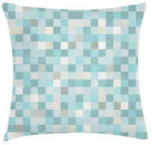 Digital Blue Cushion