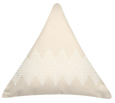 Cream Wave Triangle Cushion