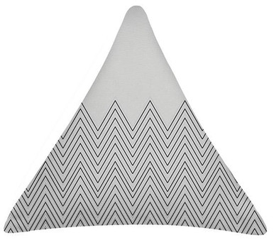 Grey Wave Triangle Cushion