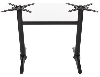 Twin Cafe Table Base in Black