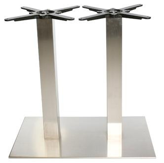 Twin Stainless Steel Table Base