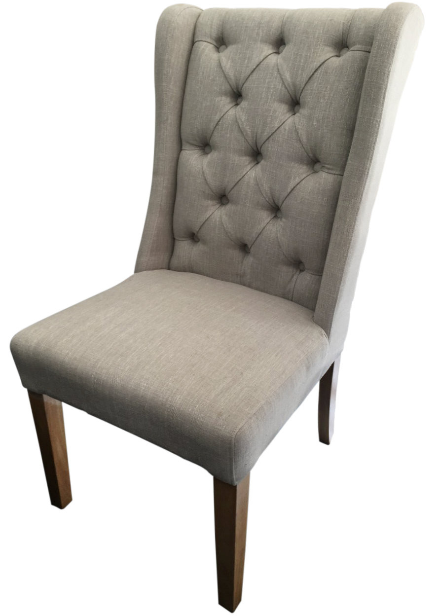 Chateau Fabric Dining Chair In Natural Only 269 In