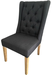 Black Chateau Fabric Dining Chair