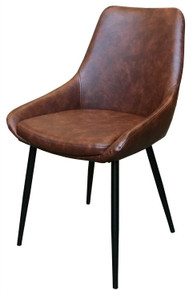Martine Dining Chair - Brown Leatherette