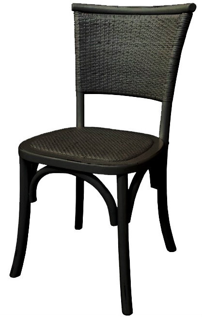 Provincial Rustic Chair Black Stools Amp Chairs