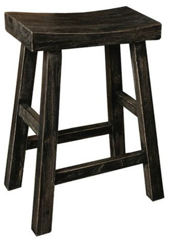 Canton Kitchen Stool In Black 65cm