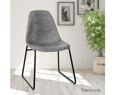 Sophie Dining Chair Grey Leatherette