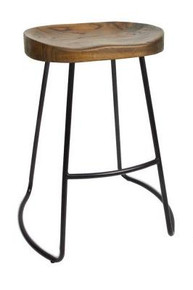 Elm Saddle Stool 65cm