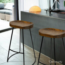 Elm Saddle Stool 75cm