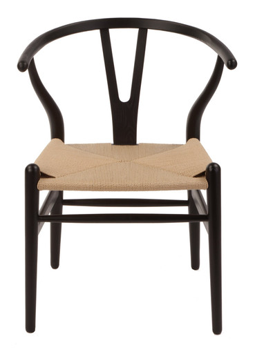 Attractive Black Wishbone Chair