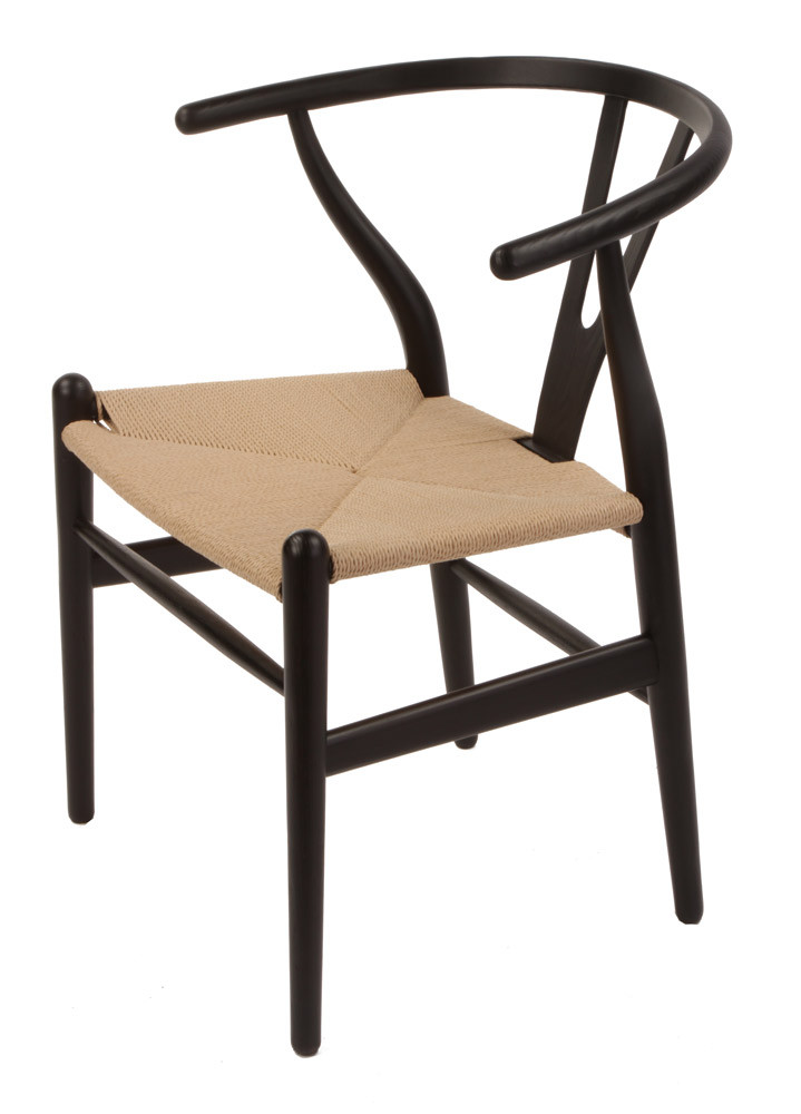 Black Wishbone Chair. Larger / More Photos