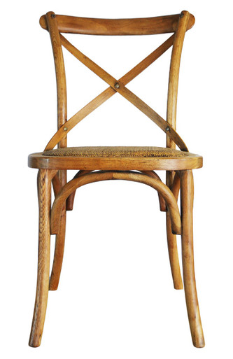 Provincial Cross Back Chair   Natural