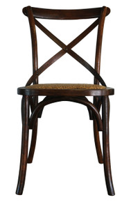 Brown Cross Back Chair