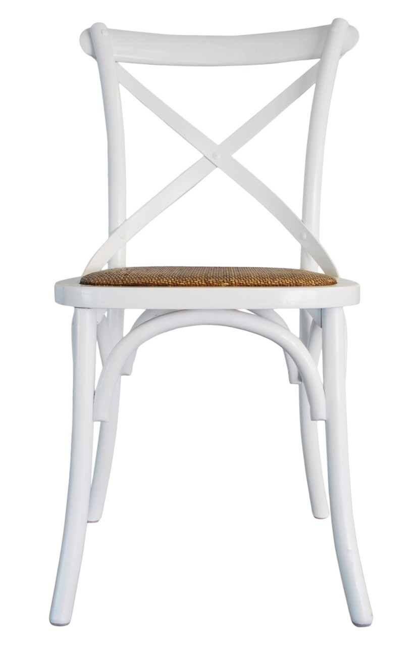 Great Provincial Cross Back Chair   White