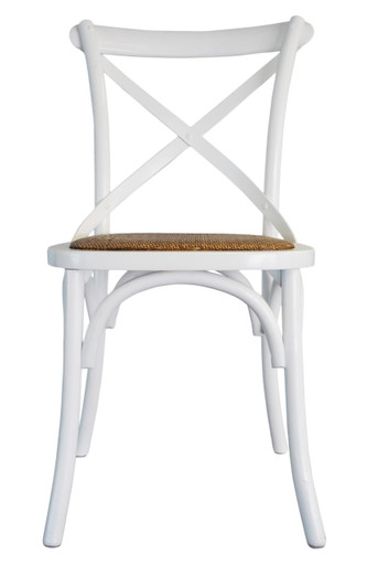 Incroyable Provincial Cross Back Chair   White
